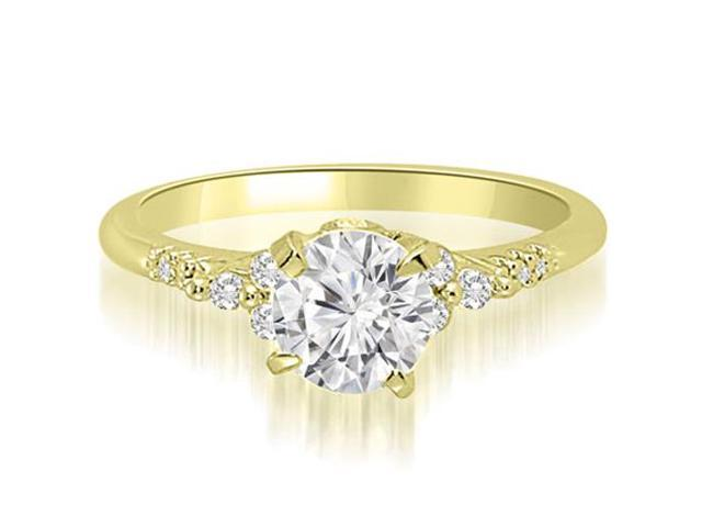 0.95 cttw. Round Cut Diamond Engagement Ring in 14K Yellow Gold (VS2, G-H)