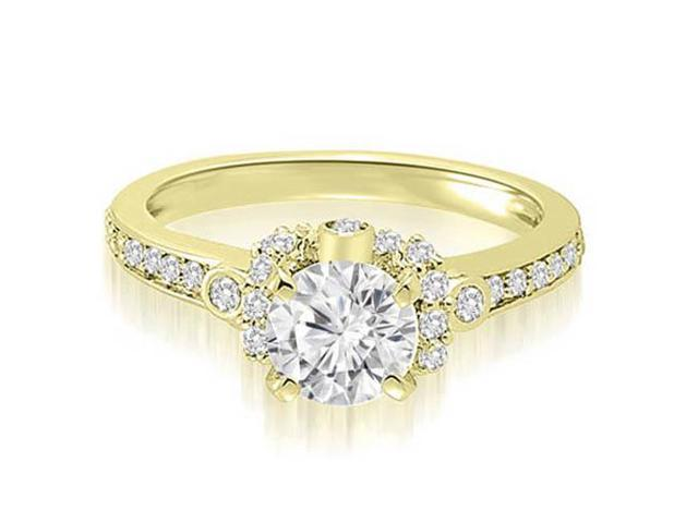 0.77 cttw. Round Cut Diamond Engagement Ring in 18K Yellow Gold (SI2, H-I)
