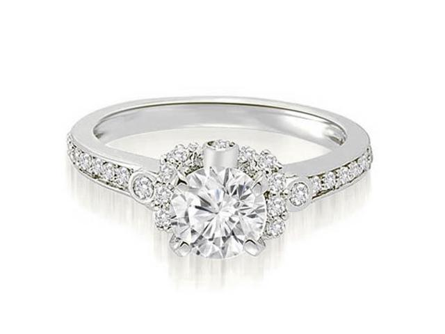 1.32 cttw. Round Cut Diamond Engagement Ring in Platinum (VS2, G-H)