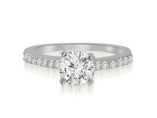 1.20 cttw. Round Cut Diamond Engagement Ring in 14K White Gold (VS2, G-H)