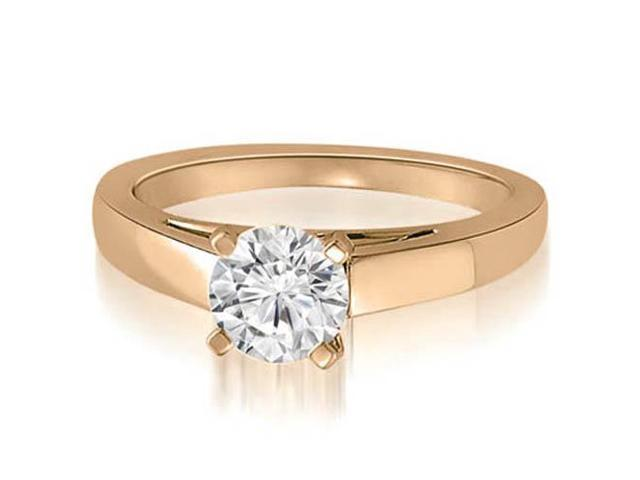0.35 cttw. Cathedral Solitaire Round Cut Diamond Engagement Ring in 14K Rose Gold (SI2, H-I)