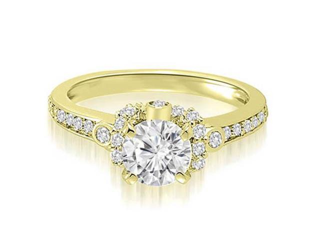 0.77 cttw. Round Cut Diamond Engagement Ring in 14K Yellow Gold (VS2, G-H)