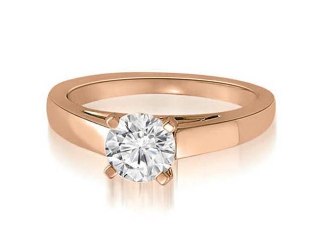 1.00 cttw. Cathedral Solitaire Round Cut Diamond Engagement Ring in 18K Rose Gold (VS2, G-H)