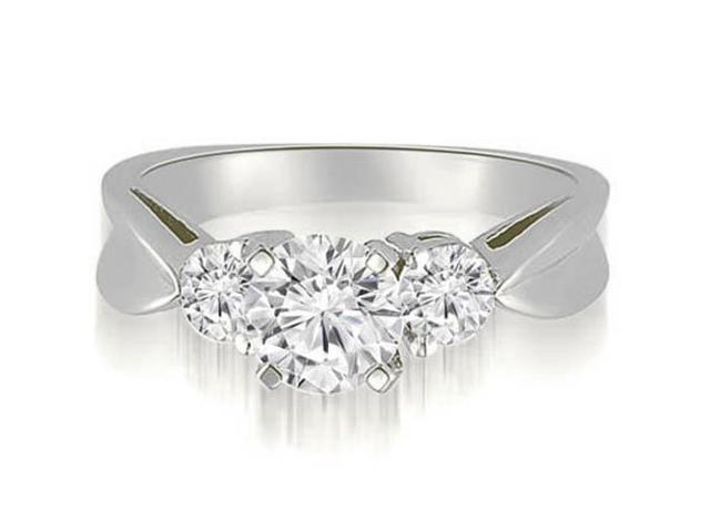1.25 cttw. Round Cut Three-Stone Diamond Engagement Ring in 14K White Gold (SI2, H-I)