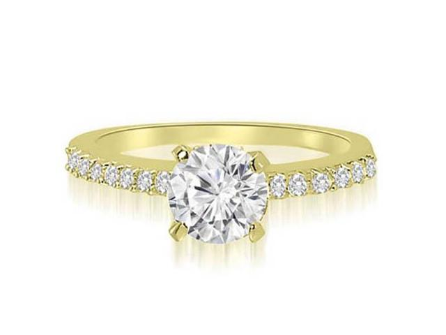 0.70 cttw. Round Cut Diamond Engagement Ring in 14K Yellow Gold (VS2, G-H)