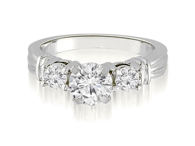 1.50 cttw. Vintage Three-Stone Round Cut Diamond Engagement Ring in Platinum (SI2, H-I)