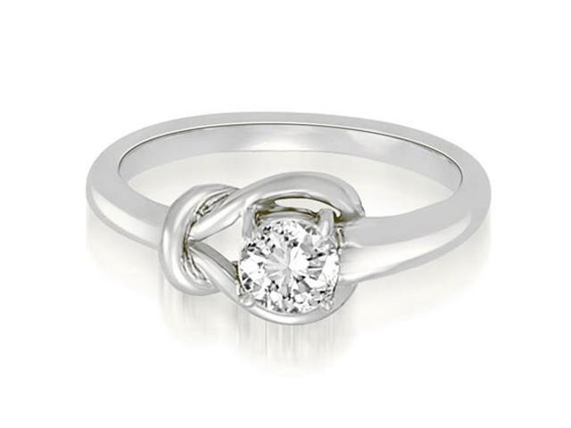 0.50 cttw. Love Knot Solitaire Diamond Ring in Platinum (VS2, G-H)