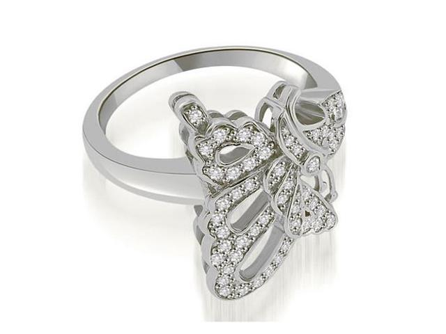 0.45 cttw. Bow Tie Fashion Diamond Ring in 14K White Gold