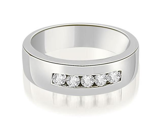 0.40 cttw. Round Diamond Men's Wedding Ring in Platinum