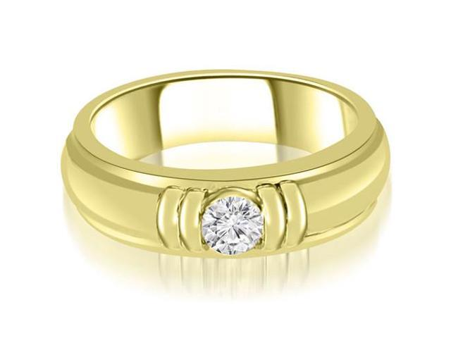 1.00 cttw. Round Diamond Men's Solitaire Ring in 14K Yellow Gold (SI2, H-I)