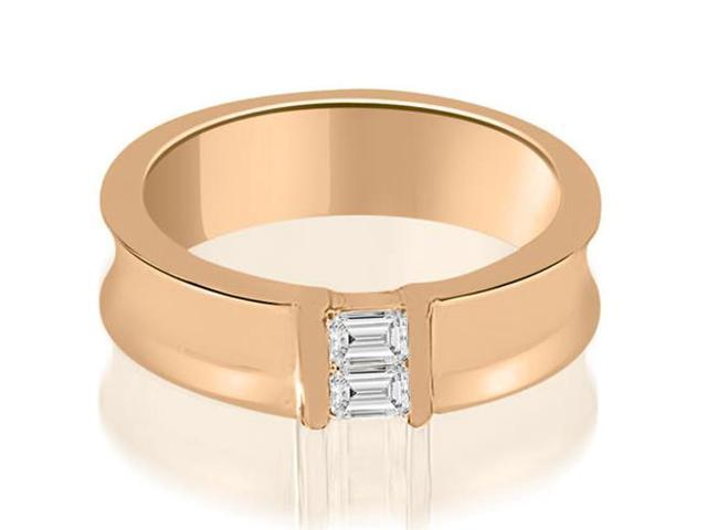 0.40 cttw. Baguette Diamond Men's Wedding Ring in 14K Rose Gold