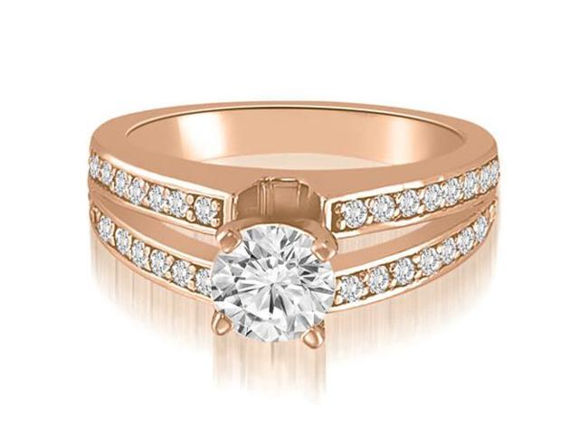 1.00 cttw. Split-Shank Round Cut Diamond Engagement Ring in 18K Rose Gold (SI2, H-I)