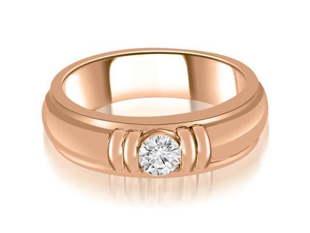 1.00 cttw. Round Diamond Men's Solitaire Ring in 18K Rose Gold (SI2, H-I)