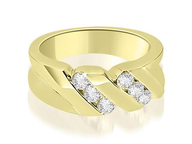 0.60 cttw. Round Diamond Men's Wedding Ring in 18K Yellow Gold (VS2, G-H)