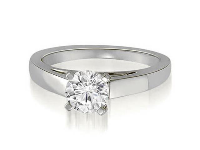 0.75 cttw. Cathedral Solitaire Round Cut Diamond Engagement Ring in 14K White Gold (SI2, H-I)