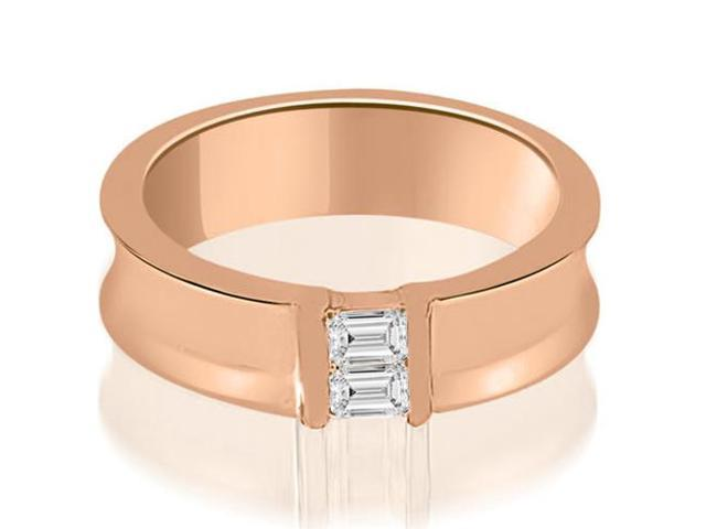0.40 cttw. Baguette Diamond Men's Wedding Ring in 18K Rose Gold (SI2, H-I)