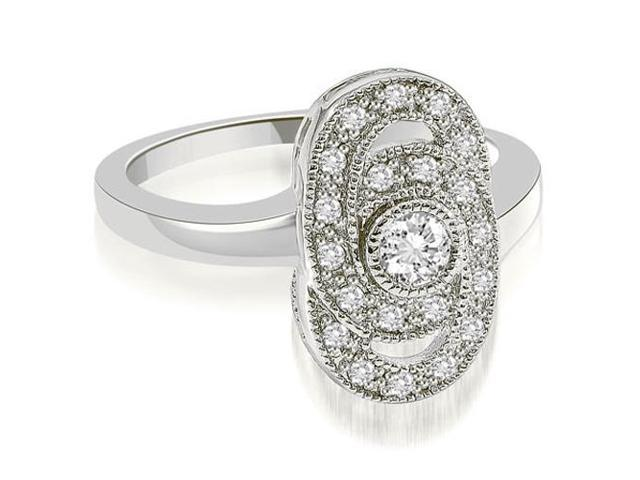 0.35 cttw. Milgrain Fashion Diamond Ring in Platinum (VS2, G-H)