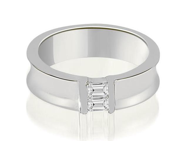 0.40 cttw. Baguette Diamond Men's Wedding Ring in 18K White Gold