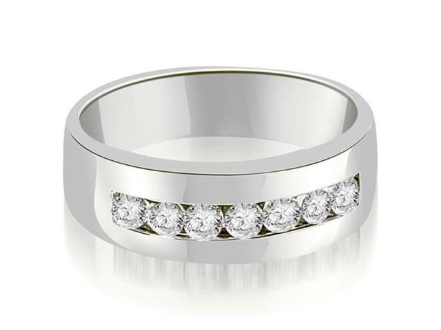 0.70 cttw. Round Diamond Men's Wedding Ring in Platinum