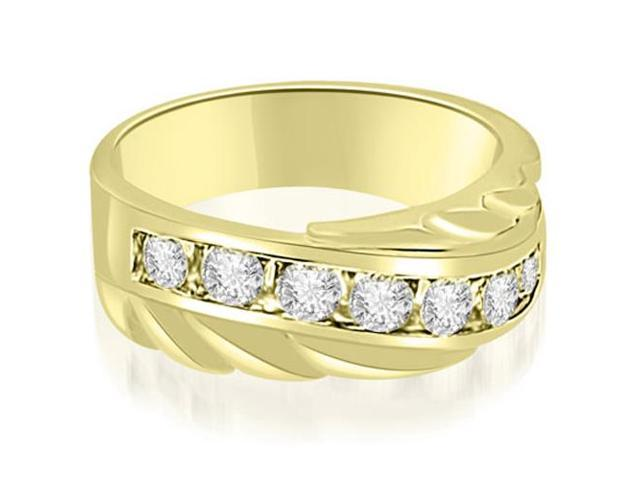 0.90 cttw. Round Diamond Men's Wedding Ring in 18K Yellow Gold