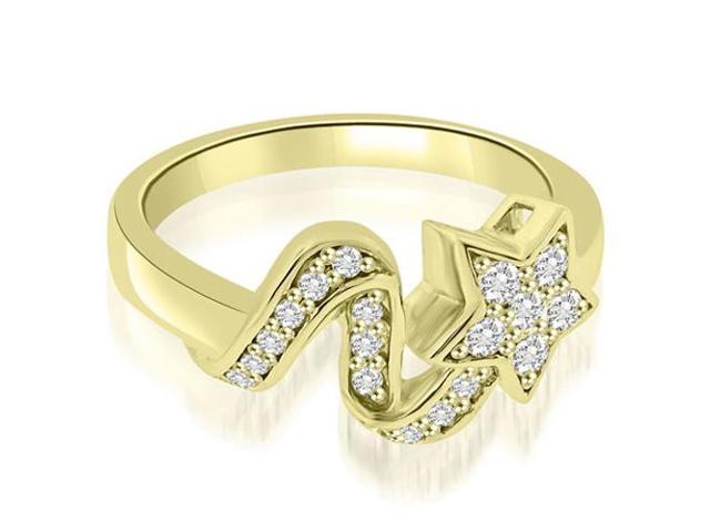 0.30 cttw. Lucky Star Fashion Diamond Ring in 18K Yellow Gold