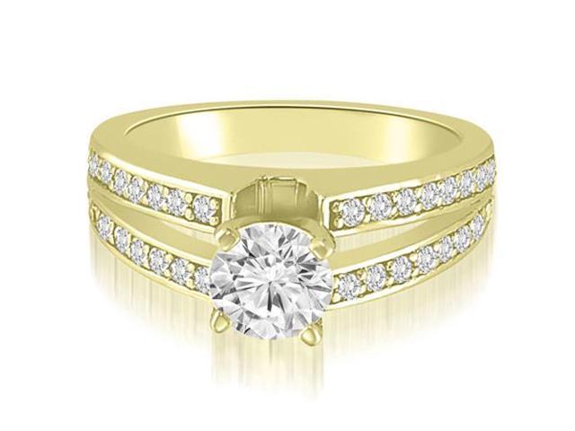 1.00 cttw. Split-Shank Round Cut Diamond Engagement Ring in 18K Yellow Gold (SI2, H-I)