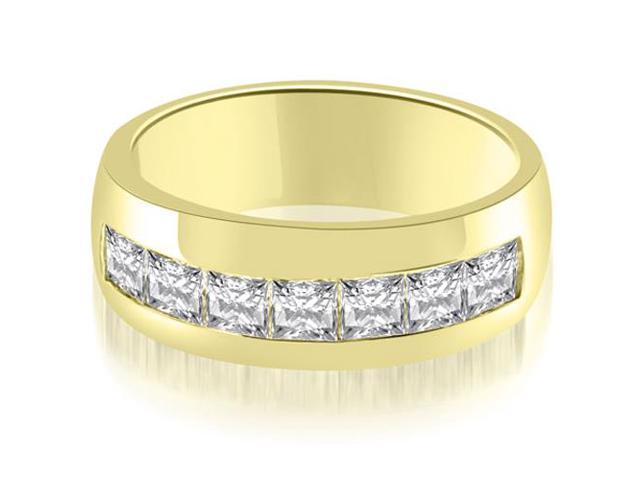 1.90 cttw. Princess Channel Men's Wedding Band in 18K Yellow Gold