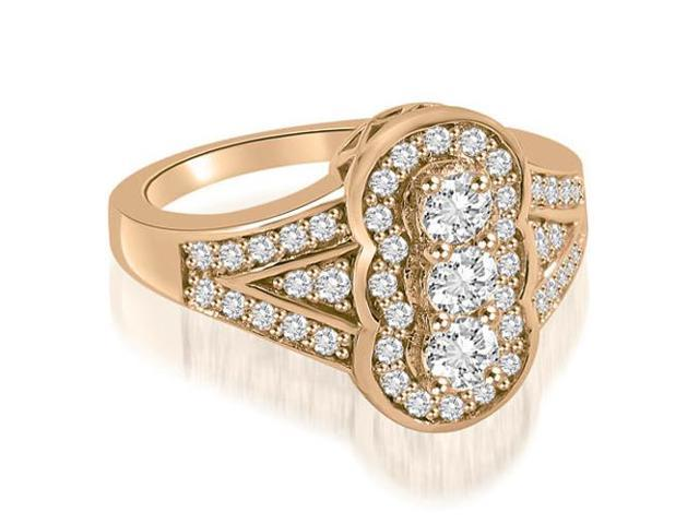 0.90 cttw. Fashion Diamond Ring in 14K Rose Gold