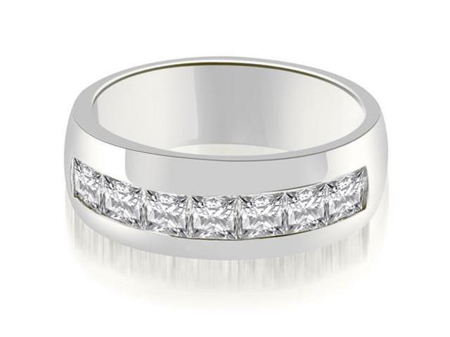 1.90 cttw. Princess Channel Men's Wedding Band in Platinum