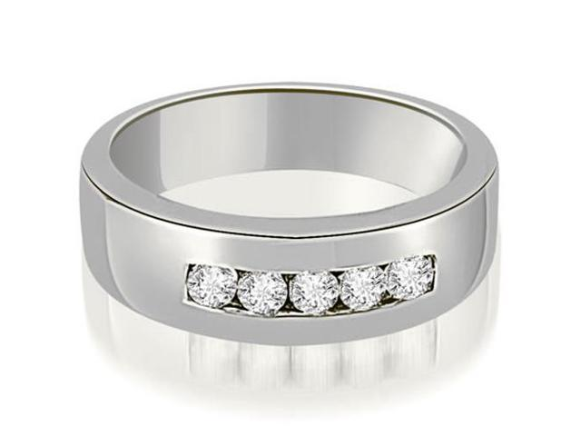 0.40 cttw. Round Diamond Men's Wedding Ring in 14K White Gold