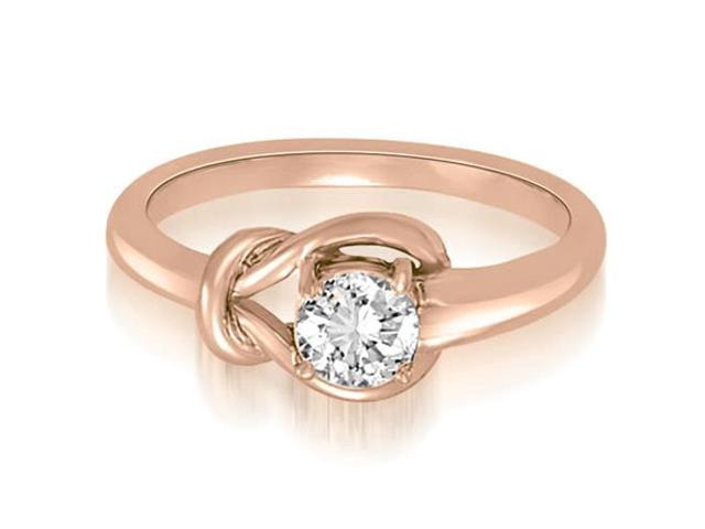 0.50 cttw. Love Knot Solitaire Diamond Ring in 18K Rose Gold