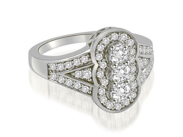 0.90 cttw. Fashion Diamond Ring in 14K White Gold (VS2, G-H)