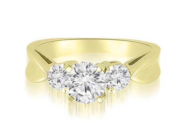 1.25 cttw. Round Cut Three-Stone Diamond Engagement Ring in 18K Yellow Gold (SI2, H-I)