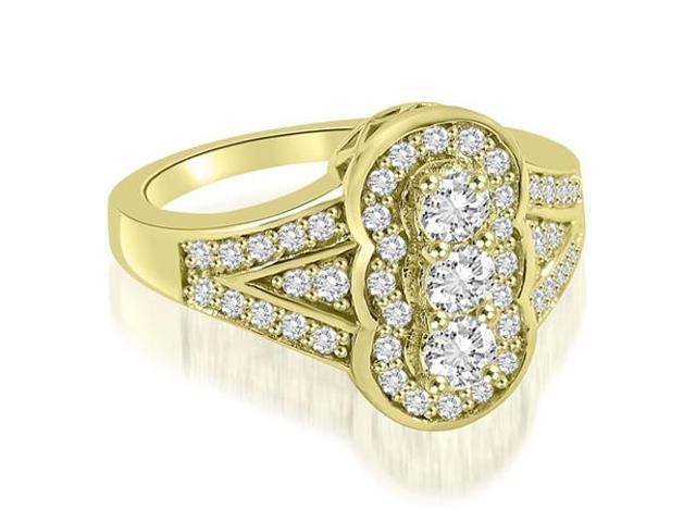 0.90 cttw. Fashion Diamond Ring in 14K Yellow Gold (VS2, G-H)