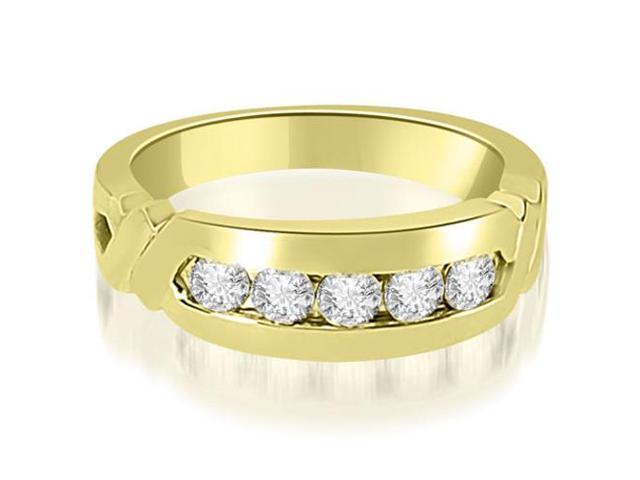 0.75 cttw. Round Diamond Men's Wedding Ring in 14K Yellow Gold