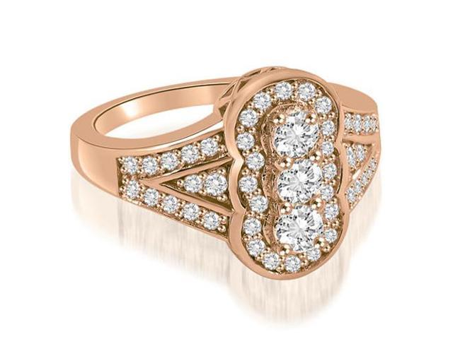 0.90 cttw. Fashion Diamond Ring in 18K Rose Gold (VS2, G-H)