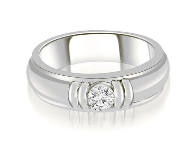 0.75 cttw. Round Diamond Men's Solitaire Ring in Platinum (VS2, G-H)