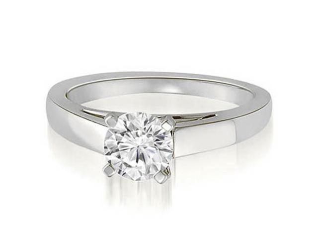 0.45 cttw. Cathedral Solitaire Round Cut Diamond Engagement Ring in Platinum (SI2, H-I)
