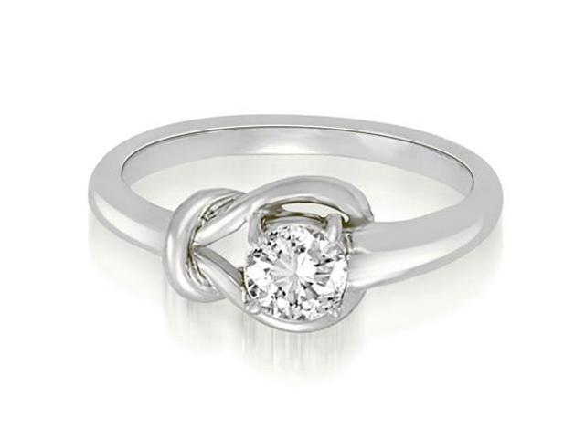 0.50 cttw. Love Knot Solitaire Diamond Ring in 18K White Gold