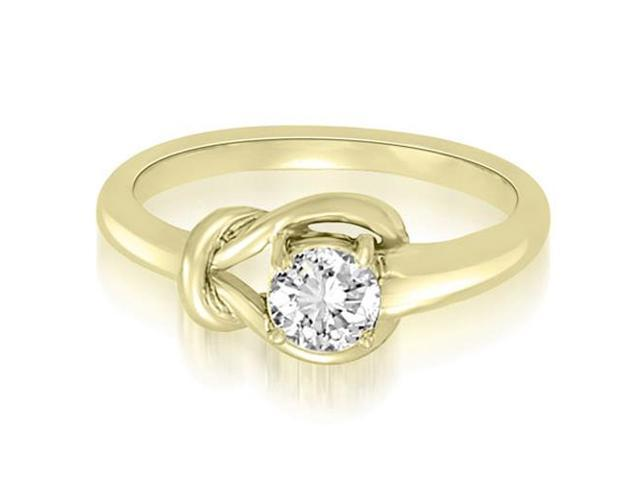 0.50 cttw. Love Knot Solitaire Diamond Ring in 18K Yellow Gold