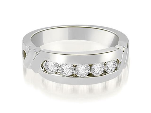 0.75 cttw. Round Diamond Men's Wedding Ring in Platinum (SI2, H-I)