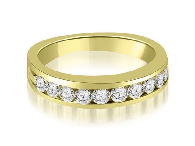 0.80 cttw. Round Cut Diamond Wedding Band in 14K Yellow Gold