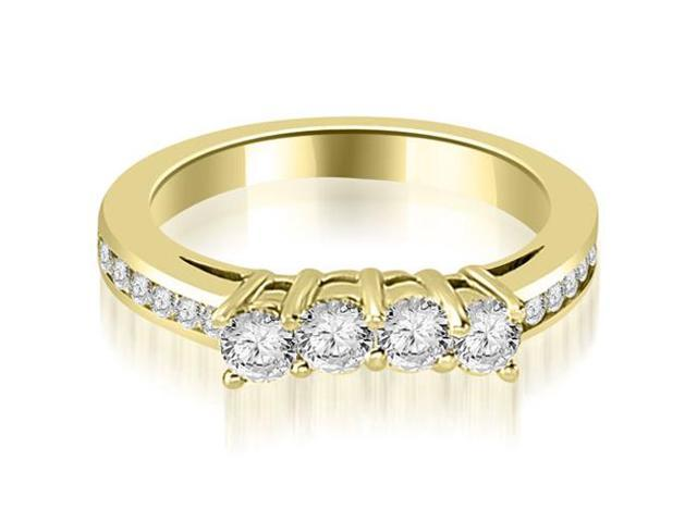 0.92 cttw. Round Cut Diamond Wedding Band in 14K Yellow Gold