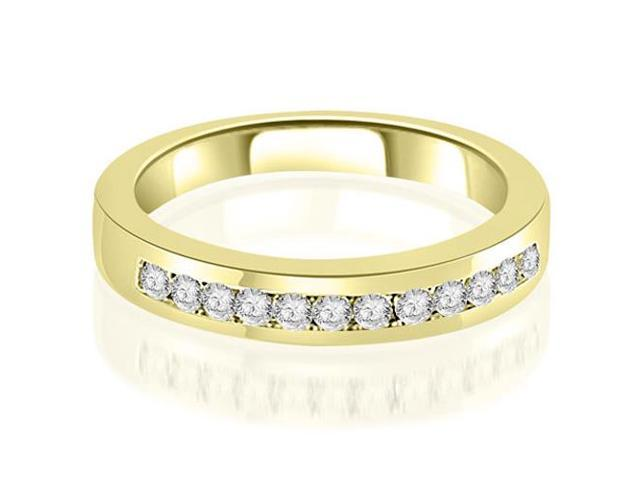 0.30 cttw. Channel Set Round Cut Diamond Wedding Band in 18K Yellow Gold