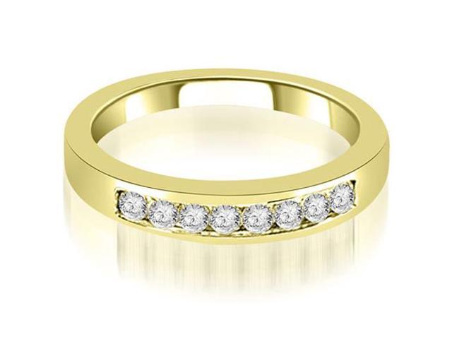 0.30 cttw. Channel Set Round Cut Diamond Wedding Band in 14K Yellow Gold