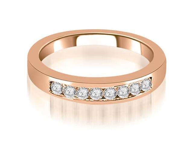 0.30 cttw. Channel Set Round Cut Diamond Wedding Band in 18K Rose Gold