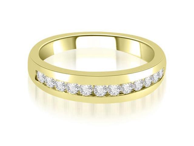 0.36 cttw. Channel Set Round Cut Diamond Wedding Band in 18K Yellow Gold
