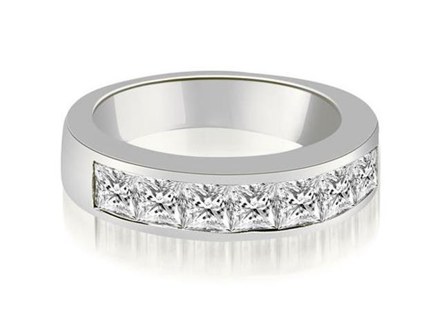 1.40 cttw. Channel Set Princess Cut Diamond Wedding Band in Platinum