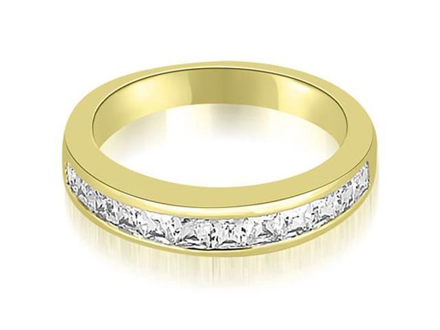 0.85 cttw. Channel Set Princess Cut Diamond Wedding Band in 14K Yellow Gold