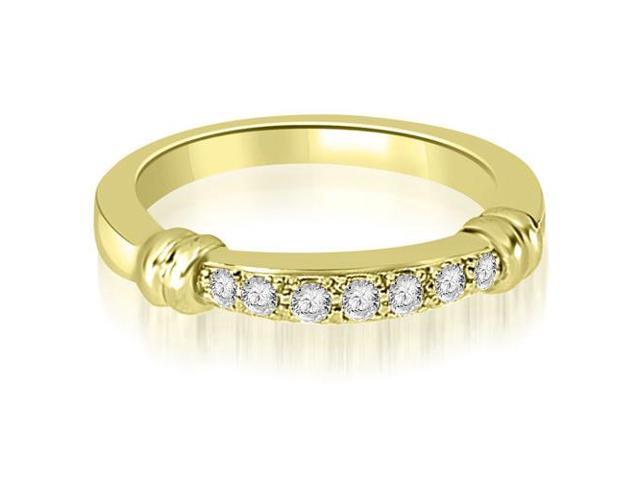 0.18 cttw. Round Cut Diamond Wedding Band in 14K Yellow Gold